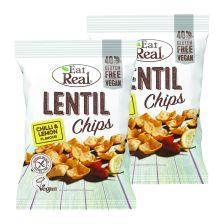 2 x Lentil Chips Chilli & Lemon (2x113g)