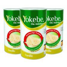 3 x Yokebe Aktivkost Vanille Pulver Lactosefrei (3x500g)
