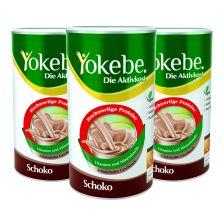 3 x Yokebe Aktivkost Schoko Pulver (3x500g)