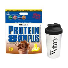 Protein 80 Plus (2000g) + Vitafy Shaker (600ml)