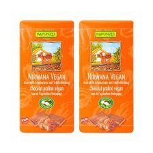 2 x Nirwana vegane Schokolade mit Praliné-Füllung bio (2x100g)