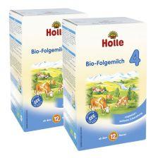 2 x Holle Bio Folgemilch 4 ab dem 12. Monat (2x600g)