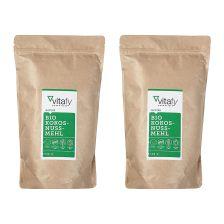 2袋有机椰子粉 2袋 x 500克)   2 x Bio Kokosnussmehl (2x500g)