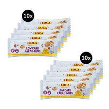 2 x LOCA Low-Carb Riegel Kakao-Nuss (2x10x30g)