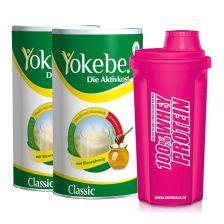 2 x Yokebe Classic Pulver (2x480g) +Shaker