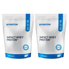2x Myprotein Impact Whey Protein (2x1000g)