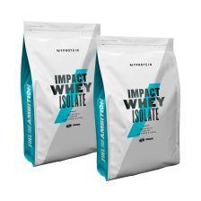 2 x MyProtein Impact Whey Isolate (2x1000g)