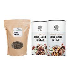 2 x Bio Low Carb* Müesli (2x350g) + Chia Samen (1000g)