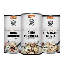 3 x Demeter Low Carb* Müesli / Demeter Chia Porridge (3x350g)