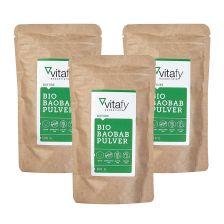 3袋有机猴面包树粉 (3袋x 100克)  3 x Bio Baobab Pulver (3x100g)