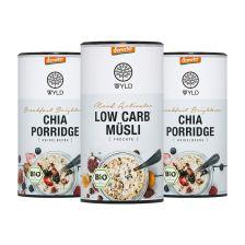 3 x Demeter Low Carb* Müsli / Demeter Chia Porridge (350g)