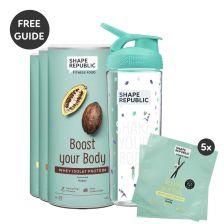 3x Protein nach Wahl + 5x To-Go-Size + BlenderBottle® — inkl. gratis Rezept Buch
