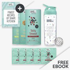 3x Slim Shake nach Wahl + 5x To-Go-Size + Blender Bottle  — inkl. gratis Rezept Buch