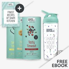 3x Slim Shake nach Wahl + Blender Bottle  — inkl. gratis Rezept Buch