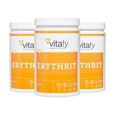3 x Vitafy Essentials Erythrit (3x1000g)