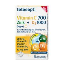 Vitamin C 700 + Zink + D3 1000 Depot (30 Tabletten)