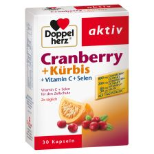双心南瓜蔓越莓胶囊 (30 粒)  Cranberry + Kuerbis (30 Kapseln)