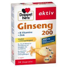 Ginseng 200 + B-Vitamine + Zink (30 Kapseln)