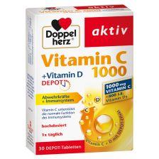 Vitamin C 1000 + Vitamin D Depot (30 Tabletten)