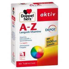 双心 多种矿物质 A-Z补充复合维生素 全面营养抗疲劳40片  A-Z Langzeit Vitamine Depot (40 Tabletten)
