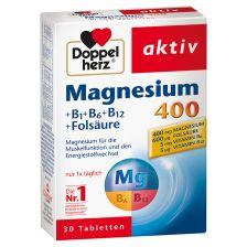 Magnesium 400 + B-Vitamine + Folsäure (30 Tabletten)