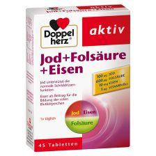 Jod + Folsäure + Eisen (45 Tabletten) - MHD 28.02.2019