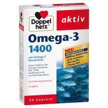 双心欧米伽3脂肪酸 1400毫克 30粒  Omega-3 1400mg (30 Kapseln)