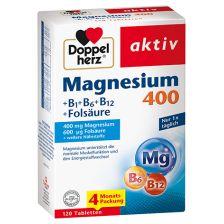 Magnesium 400 + B + Folsäure (120 Tabletten)