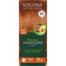 Pflanzen Haarfarbe Pulver 020 karamellblond (100g)