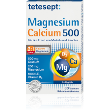Magnesium + Calcium 500 + D3 (30 Tabletten)