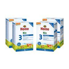 4x Holle Bio-Folgemilch 3 ab dem 10. Monat (4x600g)