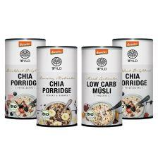 4 x Demeter Low Carb* Müsli / Chia Porridge (4x350g)