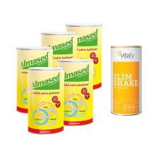 5 x Vitalkost Laktosefrei Pulver Almased (5x500g) + 1 x Vitafy Essentials Slim Shake (500g)