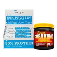 50% Protein Riegel (12x45g) + Creakong (300g)