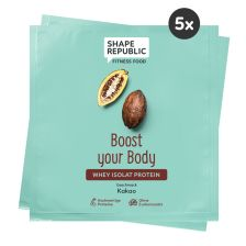 5 x Whey Isolat Protein Kakao »Boost your Body« to go (5x30g)