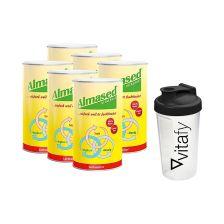 6 x Vitalkost Pulver Laktosefrei Almased (6x500g) + Vitafy Shaker (600ml)