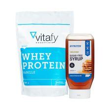 Wunder Syrup (265ml) + vitafy essentials Whey Protein Essentials (1000g)