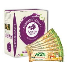 6 x Crunchy Riegel (6x25g) + 1 x Aronia Original Aroniasaft 100% Direktsaft (3000ml)