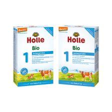 2x Holle Bio-Anfangsmilch 1, von Geburt an (2x400g)