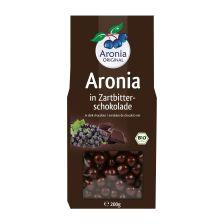 Aroniabeeren in Zartbitterschokolade bio (200g) - MHD 06.12.2018