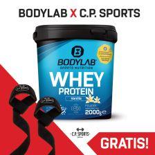 2000g Whey Protein + gratis Zughilfen