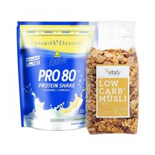 Vitafy Essentials Low Carb Müsli im Beutel (525g)  + Inkospor Active Pro 80 (500g)