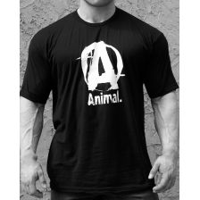 Animal Basic Logo Tee Black