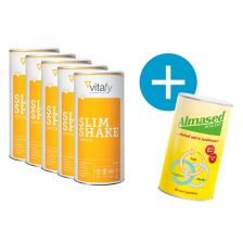 5 x Vitafy Essentials Slim Shake + 1x Almased GRATIS