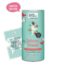 Beauty Slim Shake Strawberry & White Chocolate »Delicious Timeout« (420g) + »Travel Rezepte«