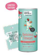 Beauty Slim Shake Strawberry & White Chocolate »Delicious Timeout« (420g) + »Travel Rezepte«