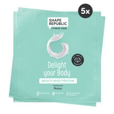 5 x Beauty Whey Protein Natur »Delight your Body« to go (5x30g)