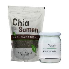 Bio Kokosöl (500ml) + Naturacereal Chia Samen (1000g)