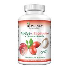 MSM + Hagebutte - 3 Monatskur (180 Kapseln)
