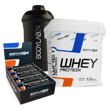 BL24 Whey Protein (1000g) + BL24 Protein Bars (12x65g) + BL24 Shaker